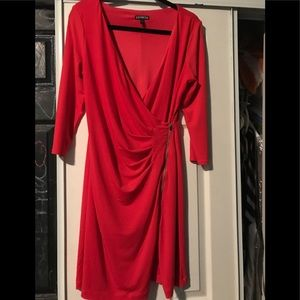 Woman's red evening dress